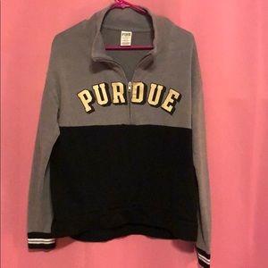 Like new Pink Purdue sweat shirt gray medium